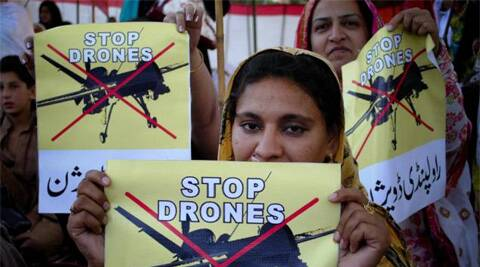 In this file photo, women supporters of a political party rally against the US drone strikes in Pakistani tribal areas. (AP)