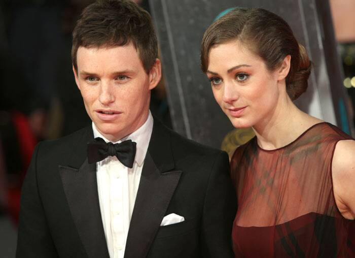 The actor attended the BAFTAs with girlfriend Hannah Bagshawe.
