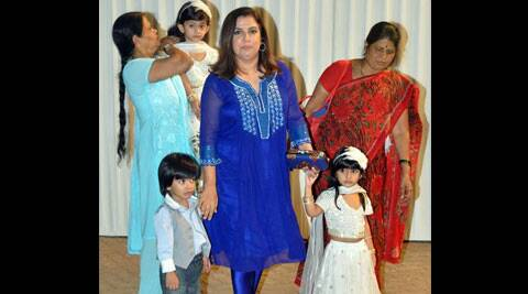 When Farah Khan was about to leave for work, one of her child fell sick, and the 'Om Shanti Om' director decided to skip work and take care of her child.
