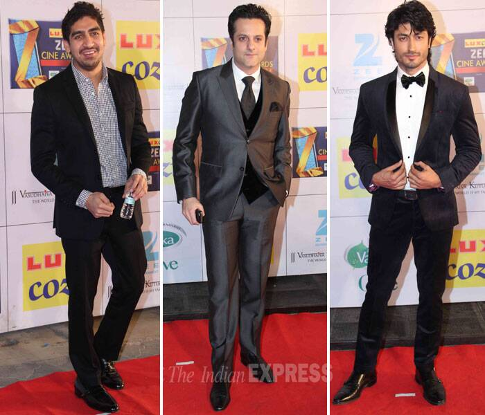 Ayan Mukherji, Fardeen Khan and Vidyut Jhamwal suited up for the awards show. (Photo: Varinder Chawla)