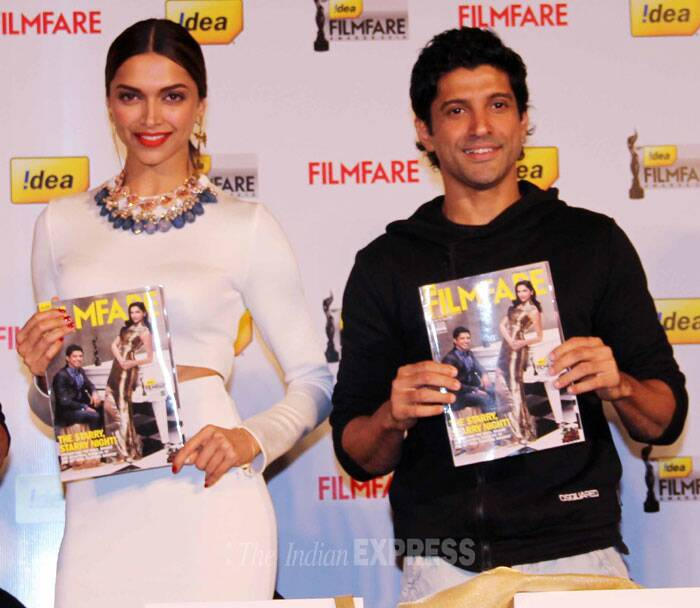 Deepika Padukone has won almost all awards this season for her performance as Leela in 'Ram-Leela'.   Farhan has been awarded for his performance in 'Bhaag Milkha Bhaag'. (Photo: Varinder Chawla)