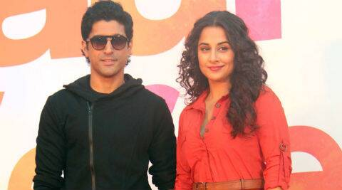 Vidya Balan on co-star Farhan Akhtar: Farhan is one of those actors who are subtle even in comedy. It is effortless and yet it makes you laugh.  (Photo: Varinder Chawla)
