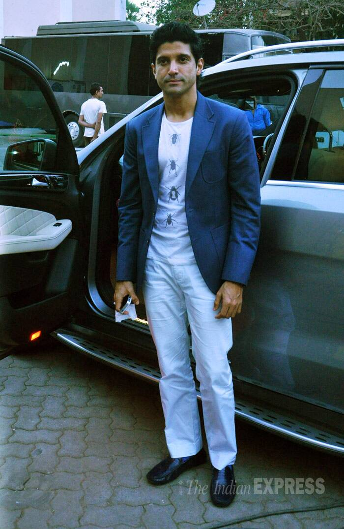 Farhan was later snapped arriving for a shoot at a studio in the suburbs. (Photo: Varinder Chawla)