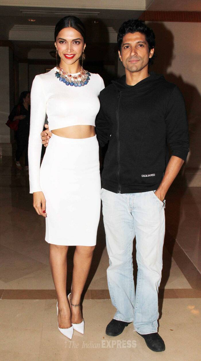 We must say Deepika and Farhan make a lovely pair…Wonder if we'll ever see the duo together onscreen! (Photo: Varinder Chawla)