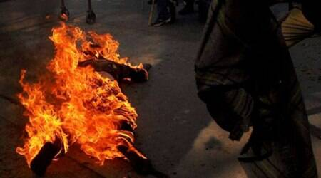 Lucknow: 'Harassed' by tenant, man immolates self outside policestation