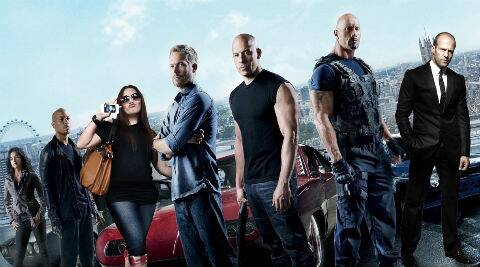 The action series stars Vin Diesel, Dwayne Johnson, Michelle Rodriguez, Jordana Brewster, Ludacris, and Tyrese Gibson among others.