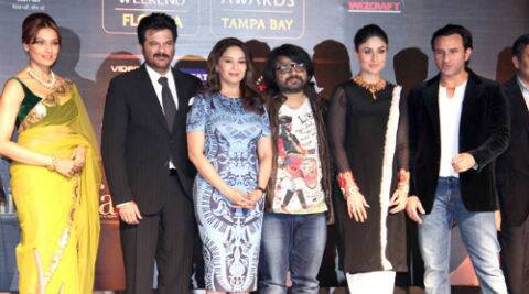 The IIFA press conference was attended by Bollywood actors Anil Kapoor, Madhuri Dixit Nene, Saif Ali Khan, Kareena Kapoor Khan, Bipasha Basu and music director Pritam. (Photo: Varinder Chawla)