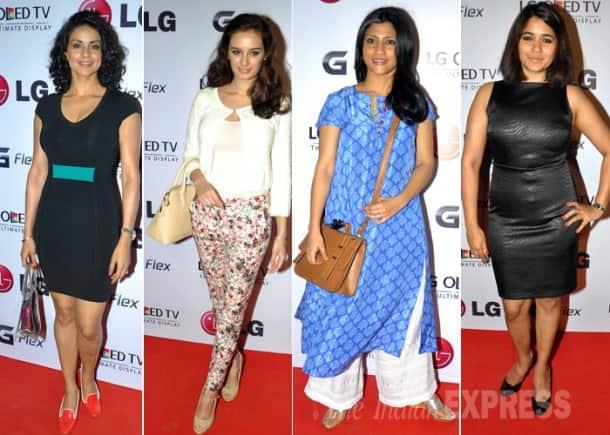 Ladies in black: Sonakshi Sinha, Malaika Arora, Gul Panag