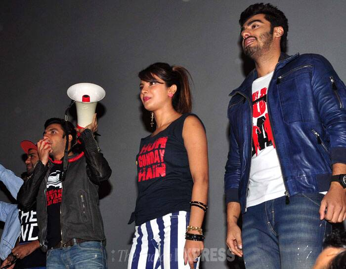 The film has opened to a positive response and the 'Gunday' trio seems quite happy. (Photo: Varinder Chawla)