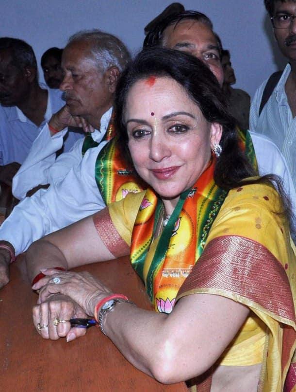 Ahana Deol campaigns for mom Hema Malini with husband Vaibhav