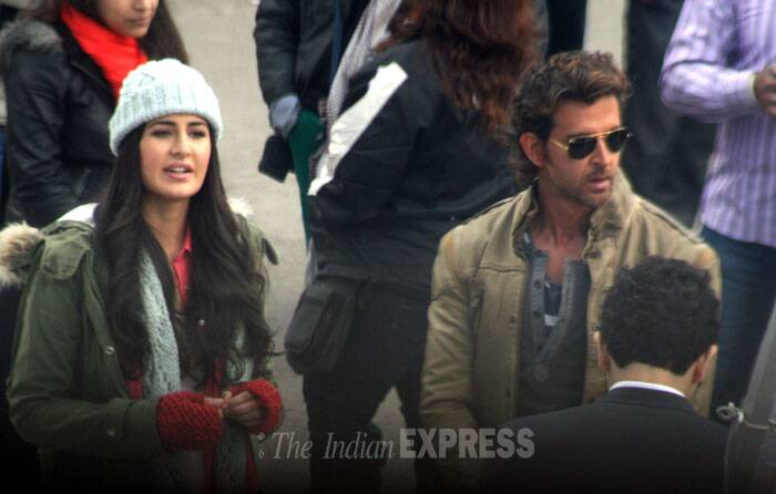 The actress last seen in 'Dhoom: 3' joined her co-star on Saturday (February 8) for the shooting. (IE Photo: Lalit Kumar)