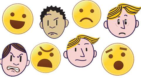 Happiness, sadness, fear, anger, surprise and disgust have been perceived to be six human emotions.