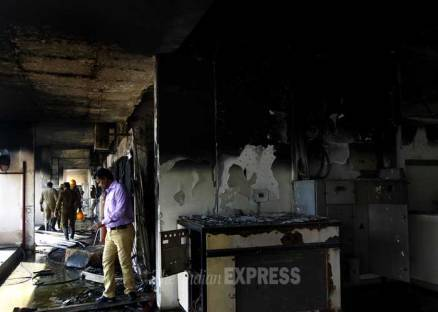 Fire in IIT Delhi campus building