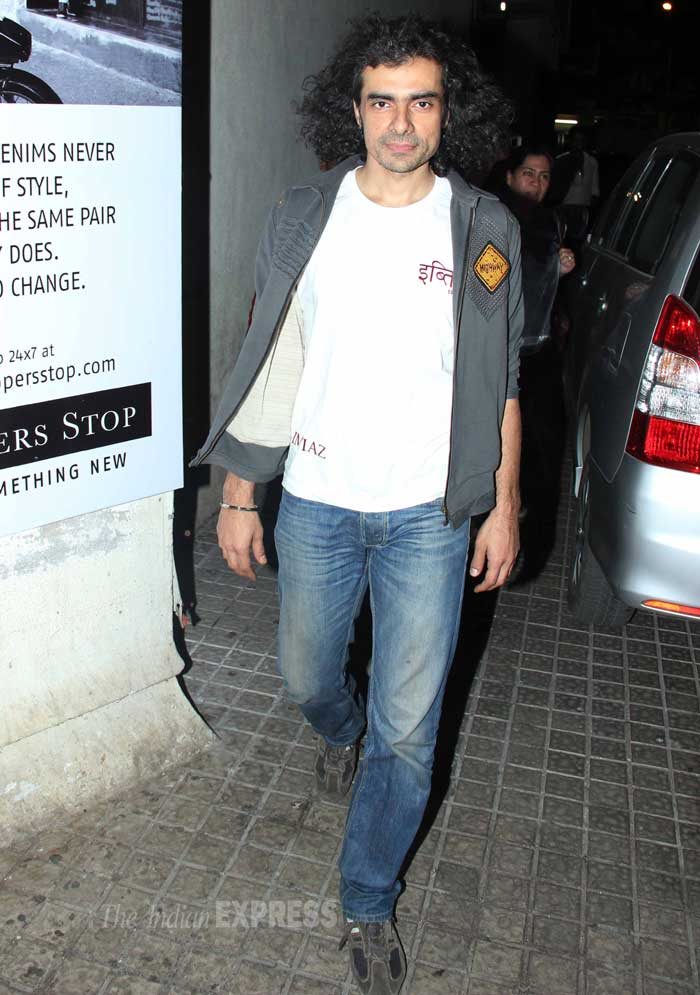 Director Imtiaz Ali was in his casual avatar. (Photo: Varinder Chawla)