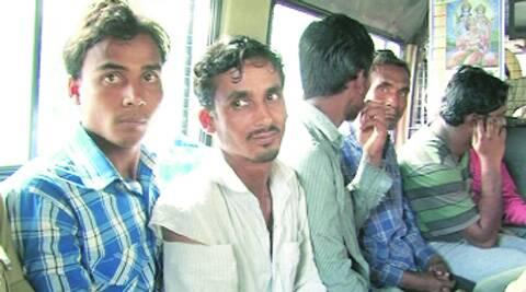 The arrested men in Bangalore on Wednesday.(Express)
