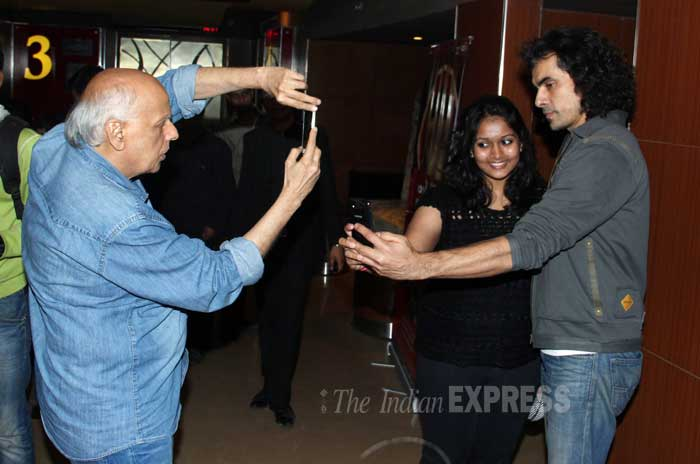 Mahesh Bhatt clicks Imtiaz Ali dancing with his fan. (Photo: Varinder Chawla)