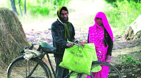 "Anju, Santosh in their village. They had hoped to get some money at least for ""institutionalised delivery""."