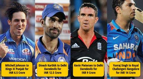 IPL 7 Auctions Live: Yuvraj Singh and Dinesh Karthik went for plenty in the auctions today