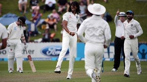 Ishant Sharma took six for 51 and helped bowl New Zealand out for 192 after tea (Reuters)