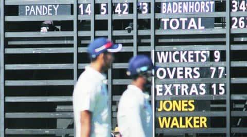 Ishwar Pandey walks off the field a happy man on Sunday (IE Photo Daksh Panwar)