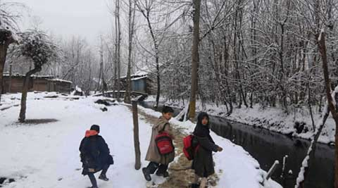 Kupwara town, in north Kashmir, remained unchanged at minus 3.8 degrees Celsius.