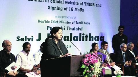 Jayalalithaa in Chennai on Friday. PTI