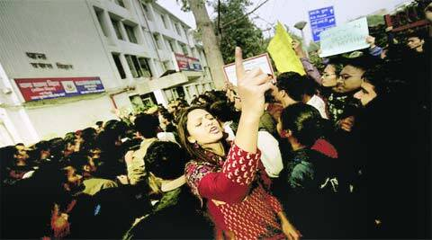 Protesters demanded action against police.