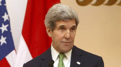 John Kerry told the media in Indonesia that the Syrian war is being aided by Russia. (AP)