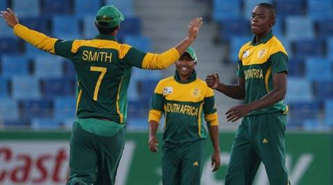 Rabada (Right) cut the Australian batting to ribbons, claiming six wickets in just 8.2 overs (ICC)