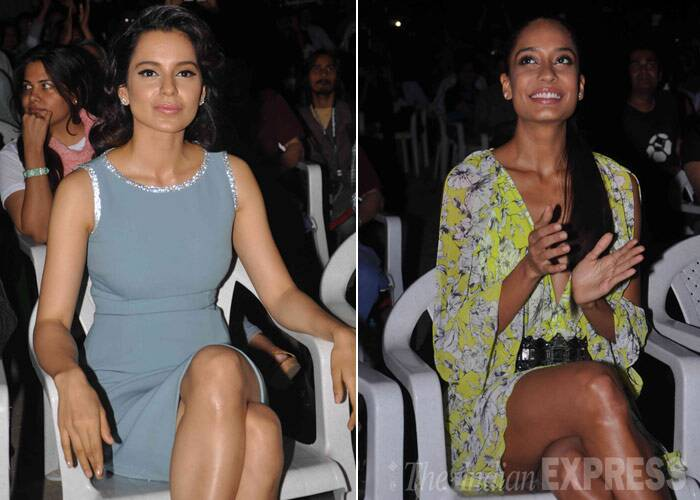 Kangana Ranaut and Lisa Haydon are the new 'Queens' in town - the two Bollywood beauties launched the music of their upcoming flick, 'Queen'.  (Photo: Varinder Chawla)