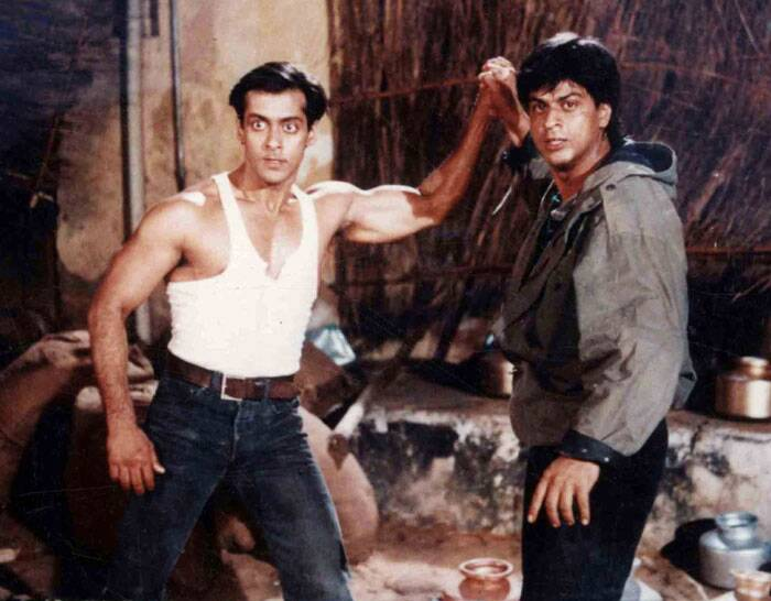 <b> Shah Rukh-Salman</b>: Bollywood's two most loved Khans – Shah Rukh and Salman – came together as brothers Karan-Arjun in the film by the same name. The two also created history of sibling love which was rarely seen on screen. Their tale of justice seeking brothers in a tale of reincarnation was much appreciated by all.