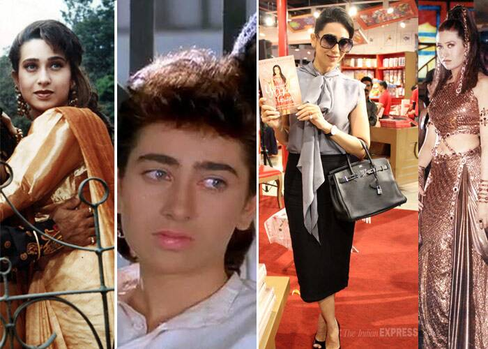<b>Karisma Kapoor</b>: This Kapoor lass made her debut with 'Prem Qaidi' in 1991 and was seen in the most disastrous onscreen avatars with her trademark bushy eyebrows and big hair. However, it all changed with 'Dil To Pagal Hai', when Karisma rocked her super-hot bod in the love story. Now, despite not being seen onscreen, Karisma is known for her sleek, sophisticated style and her minimal fresh-look makeup.