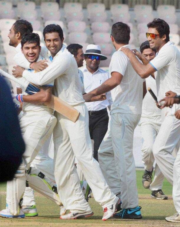 Favourites Karnataka deservedly won their seventh Ranji Trophy title after beating a spirited Maharashtra side by seven wickets (PTI)