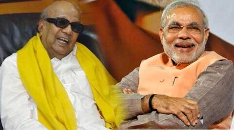 Karunanidhi said the hectic election campaign by Modi shows he is a hardworker. (PTI)