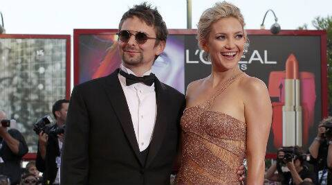 Kate Hudson and Matt Bellamy got engaged in 2011 and have two-year-old son Bingham together. (Reuters)
