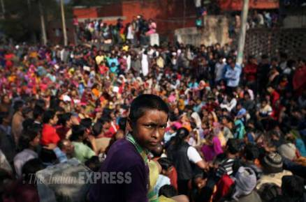 Delhi's Kathputli colony residents sit on dharna against evacuation