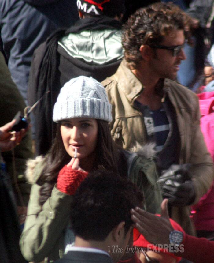 Katrina is engrossed in shooting. (IE Photo: Lalit Kumar)