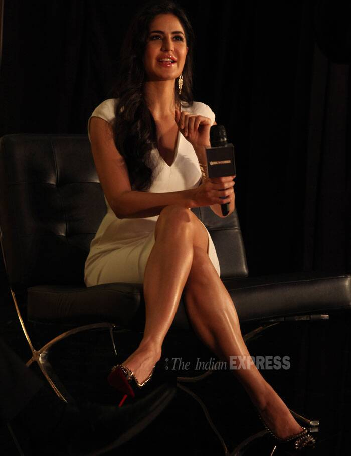 "Katrina has been at the receiving end of comments stating that she was underutilized in the action-packed 'Dhoom 3'. ""I take it as a compliment that people wanted to see more of me in the film. Next time when I do a film I will see to it that I do more stuff,"" she told reporters. (IE Photo:Pradip Das)"
