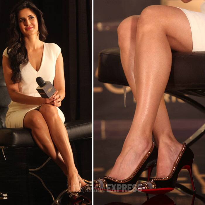 The actress who sizzled in 'Dhoom 3' as the sexy Aaliya shows us why she's known to have the best legs in the industry! (IE Photo:Pradip Das)