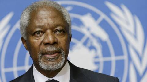 Kofi Annan on Thursday called upon global communities to work together to counter the adverse impact of climate change. (Photo: Reuters)