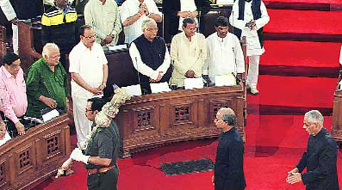 At the opening day of the budget session in the Assembly, Monday. Subham Dutta