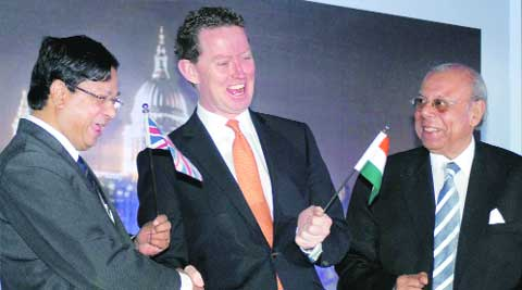 UK minister Greg Barker, in Kolkata on Friday. PTI