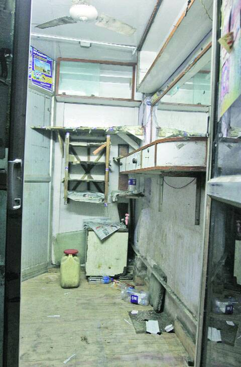 The shop at Lajpat Nagar where the fight took place.