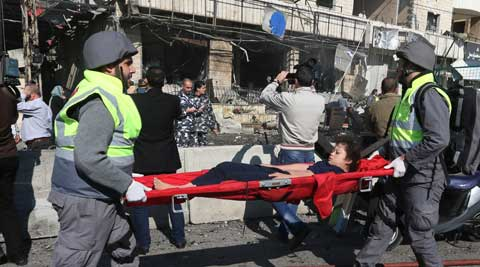 Blast in Shiite area of beirut claimed two lives. (AP)