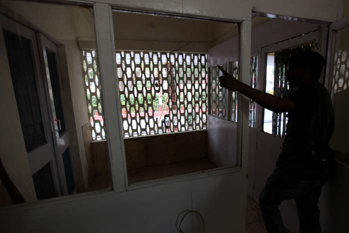 The leopard escaped breaking glass panes of window, the officer said.