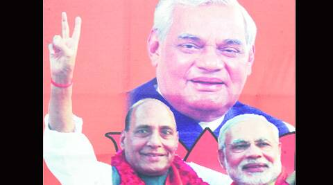 In the past seven regional rallies, Atal's photograph was missing from the main stage and his appearance was limited to small cut-outs.