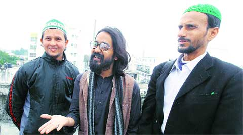 Aseem Trivedi at AAP office in Lucknow.