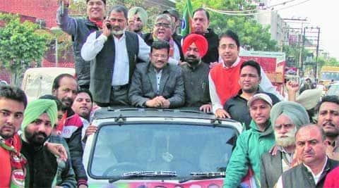 BJP's state president Kamal Sharma in Ludhiana Friday.