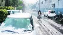 Heavy hailstorm hitscity