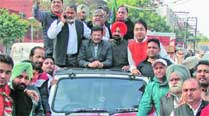 BJP's state president Kamal Sharma in Ludhiana Friday.